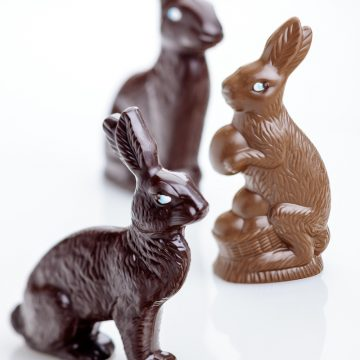 Milk and Dark Chocolate Bunnies