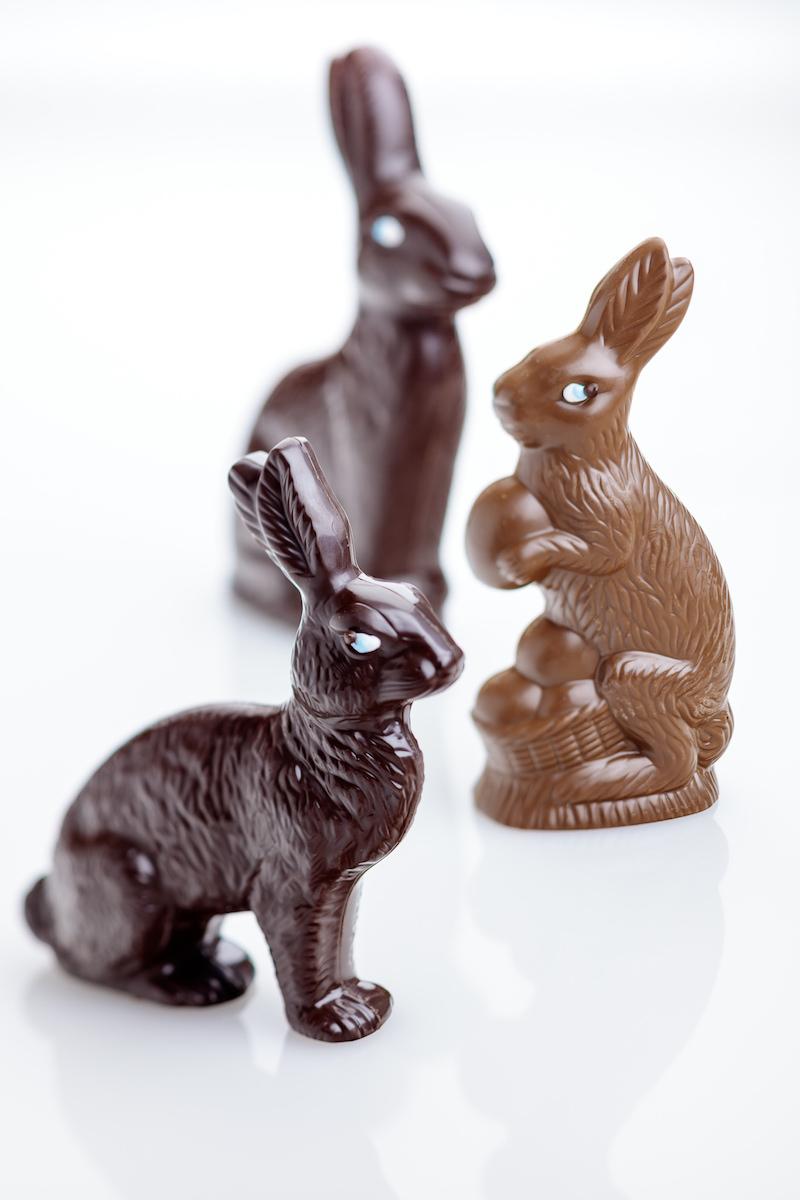 Milk and Dark Chocolate Bunnies